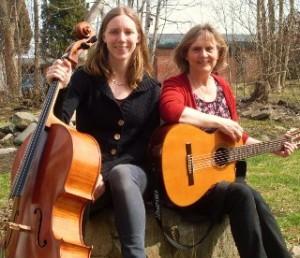 Maria Stoltz gitarr och Hanna Bendz cello